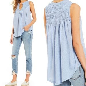 Free People We The Free New To Town Smocked Tank